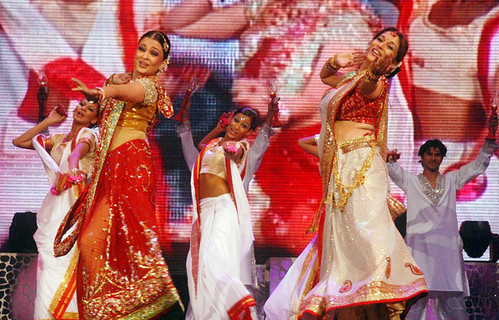 Madhuri Dixit and Aishwarya Rai Bachchan in the Unforgettable Tour Show 2008 in New York