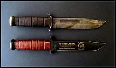 Two K-bars (eks4003) Tags: usmc sticker war knife vietnam few jungle marines blade survival shank recon kbar shive marinecorpsthe