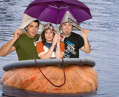 Hop aboard the pumpkin boat!