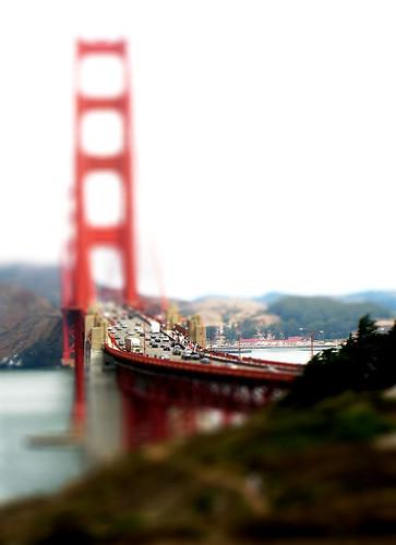 Golden Gate Bridge Tilt Shift by cogdogblog.