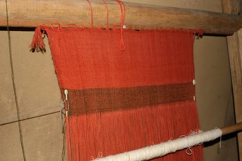 Webstuhl im Haus des Tuchhändlers in Haithabu 19-10-2008