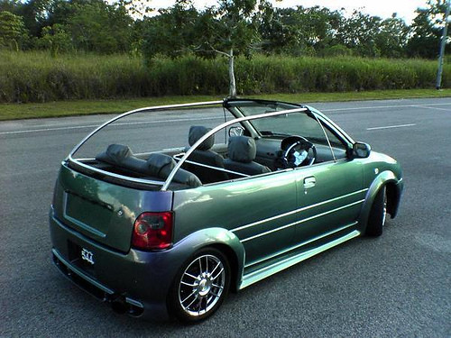 PICTURE OF MODIFIED PERODUA KELISA CUSTOM BODYKIT KELISA FULL .