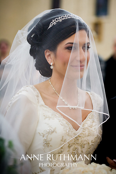 Veiled Bride in Chaldean Orthodox Catholic Church