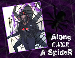 along came a spider (jaki good miller) Tags: people halloween spider costume web halloweencostume jakigood familyfriends familyandfriends insectsandspiders spidercostume