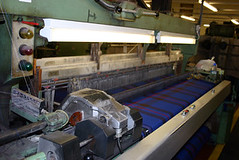 Elliot Tartan being woven