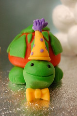 Rainbow birthday cake for Caitlin - Mr. Turtle (CharmChang) Tags: cake dessert rainbow turtle birthdaycake fondant