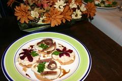 018 Torta de delicias del cantabrico y queso de cabra y canape imperial