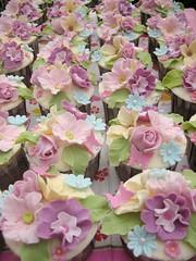 English Garden cupcakes (Anita Jamal) Tags: pink green english garden cupcakes sweet pastel cream lilac fondant