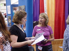 Amy Duernberger (right) and conference attendee