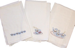 Vintage Tea Pot Embroidered Flour Sack Towels (Closet on Queen Creek) Tags: christmas towels sack flour