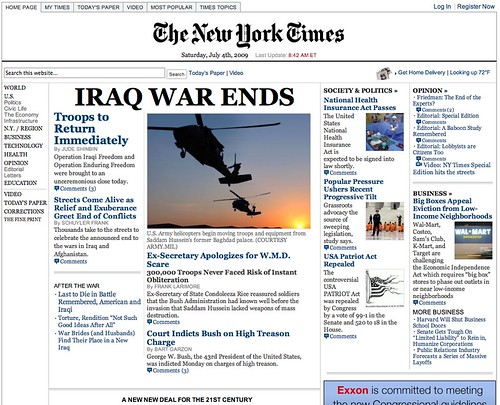 Fake New York Times Website screenshot