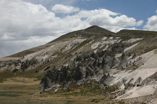 Eroded hillside north of Negro Mayo, Peru.