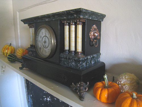 Side View of Antique Seth Thomas Clock