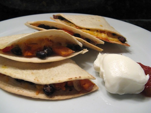 Black Bean & Butternut Squash Quesadillas