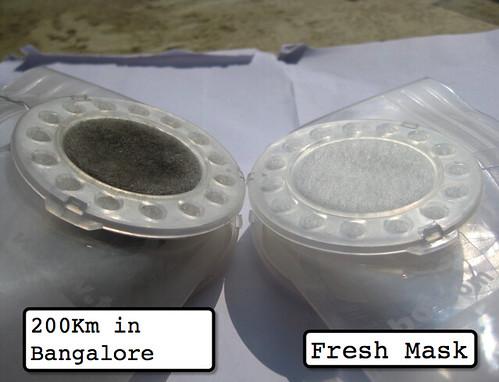 used filter (200km) vs new