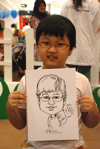caricature live sketching for West Coast Plaza day 2 - 12