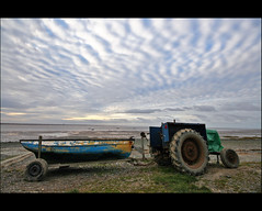 Tractor & Boat Lytham Fishing Slipway (mliebenberg) Tags: beach clouds coast fishing stones lytham hdr stannes fylde sigma1020mm hdrphotography hdrphotos markliebenberg markliebenbergphotography