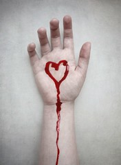 Pain in my heart (JenniPenni) Tags: pain blood heart arm cutting 365 conceptual emotions selfharm overtheexcellence jennipenni upsidedownsidewholesomesideohijustdontknow
