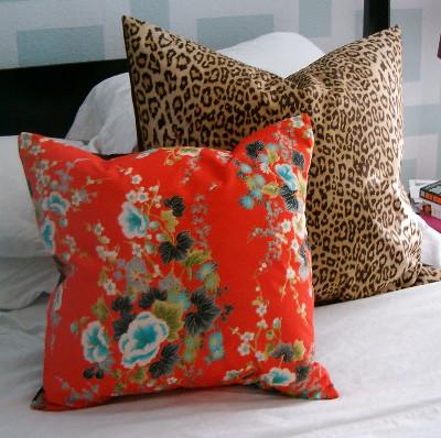 Vintage kimono and scarf pillow