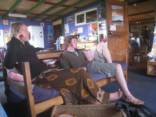 Annie (Tasmania) and Jamie (UK) bored mindless