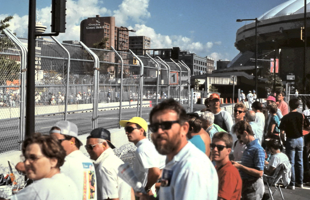 gm 16403 Indy Car Expo Boulevard Crowd, Vancouver 1990