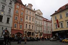 Gebäudefront - Prag