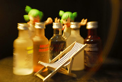 Got a bench lounge chair for Jun!! -  DSC_7770 (~Nisa) Tags: two lensbaby toy one singapore asia alcohol vodka absolut composer absolutvodka yotsuba revoltech