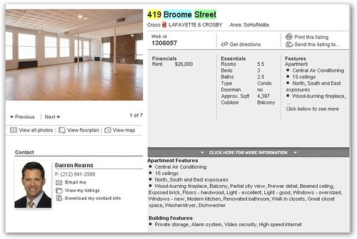 Heath Ledger Loft Listing