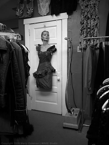Door with Mannequin