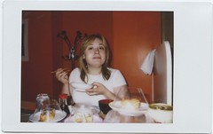 not food (pfig) Tags: portrait people food woman sushi lunch habibi pfig date:year=2008 date:month=june camera:make=fuji camera:model=instaxmini55i file:path=~picturesscansepsonpolaroids file:name=img022tif