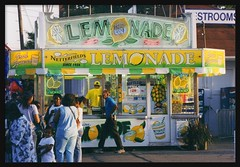Lemonade Stand: Michigan State Fair--Detroit MI (pinehurst19475) Tags: city 2002 summer slr sign festival 35mm neon michigan statefair detroit fair lemonade neonsign filmcamera refreshments pentaxmzm lemonadestand pentaxzxm puredetroit fuji400film michiganstatefair absolutemichigan puremichigan pentaxart netterfields netterfieldslemonade