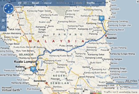 3094730547 227aebace4 o Heading to Terengganu with guidance from Google Map & Live Search Map