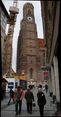 Church Tower in Marienplatz
