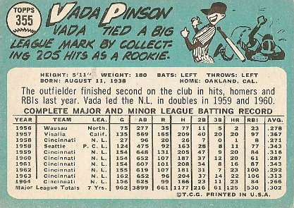 Vada Pinson (back) by you.