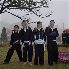 The four Hmong mosquiteres (NaPix -- (Time out)) Tags: new friends portrait men happy buffalo year ox vietnam celebration explore lunar journalism sapa hmong existentialists fourgoodmen napix jawnshanochagoodheartnewyearinhmong theyearofthebufalloox jawnchainuheandchou thefourhmongmosquiteres