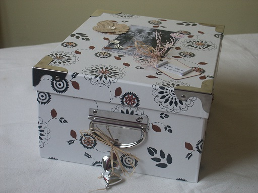 Wedding guest book & greeting cards box