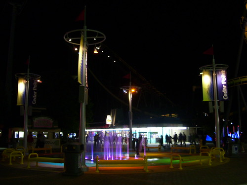 Cedar Point - New Fountain at Night