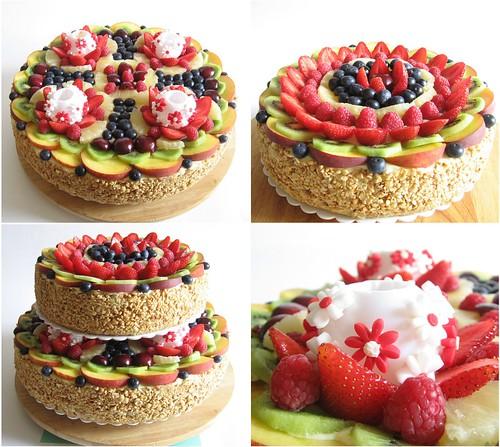 Collage Torta di Frutta