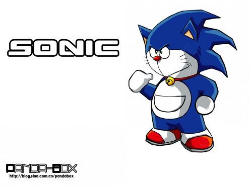 gato cósmico Doraemon sonic