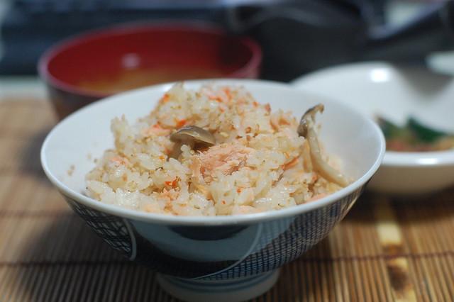 鮭バターで炊き込みご飯作ったよー。 #jisui