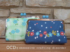 Denyse Schmidt Clutches (Kristie at OCD) Tags: bag handmade purse gift clutch girlfriends bobbles denyseschmidt joanns framedpurse framedclutch picnicsandfairgrounds