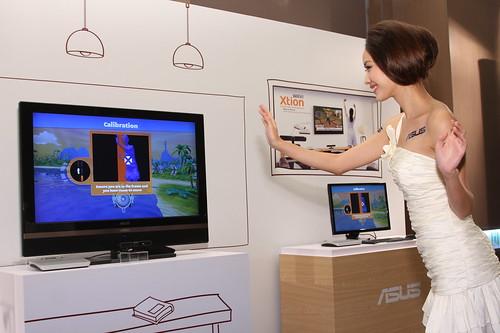Xtion Portal技術讓使用者以體感手勢遙控操作多媒體內容、遊戲以及許多線上服務