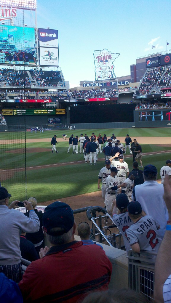 Photograph of the Minnesota Twins at Target Field, The 12th Most Popular Team