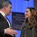 Gordon Brown, Queen Rania - World Economic Forum Annual Meeting Davos 2008