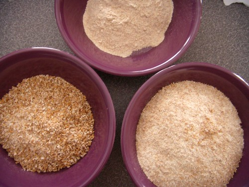 trio of ground grains