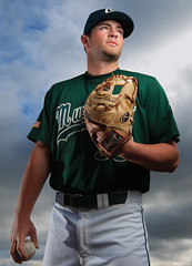 Pitcher Portrait 1 (Joe Johnston Photography) Tags: california lighting portrait usa baseball pitcher calpoly mustangs