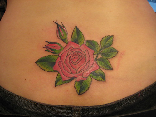lower back heart tattoo. Heart Tattoos on Lower Back
