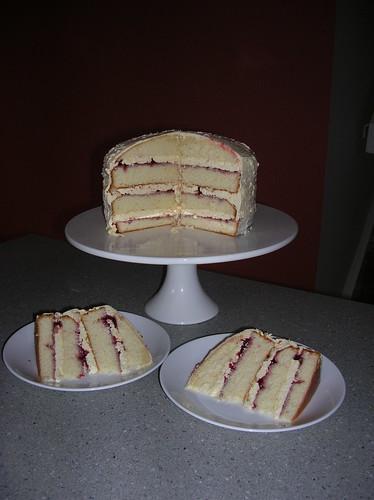 CaitGoodall-cake & 2 plates