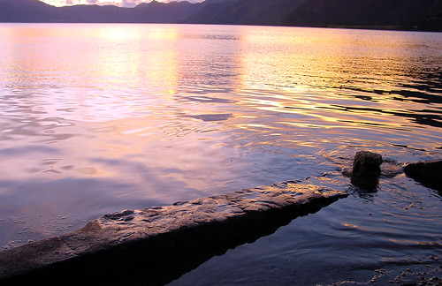 Lake Atitlan at Sunset