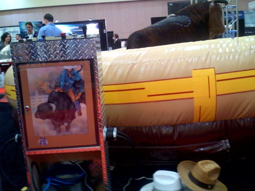 Bull Riding at the Tech Show